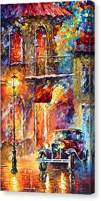 Antique Automobiles Canvas Print - Thoughts Of My Ancestors  by Leonid Afremov