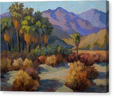 Canary Canvas Print - Thousand Palms by Diane McClary