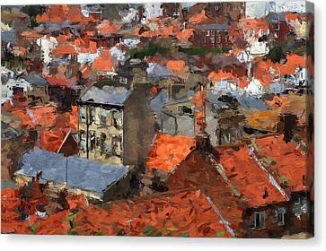 Thousand Roofs Canvas Print by Steve K