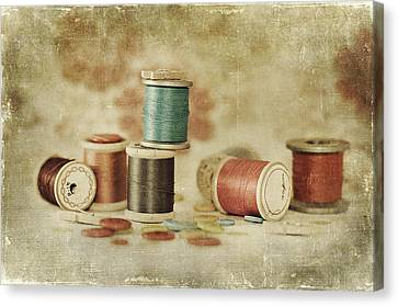 Canvas Print - Threads And Buttons by Sofia Walker