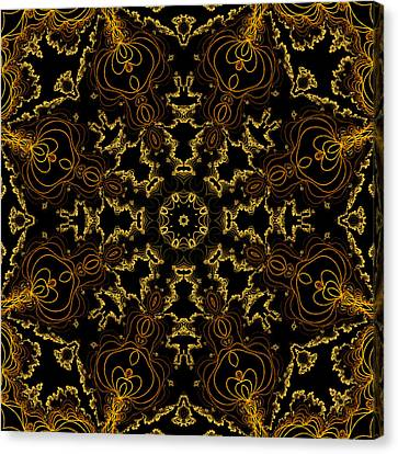 Canvas Print featuring the digital art Threads Of Gold And Plaits Of Silver by Owlspook