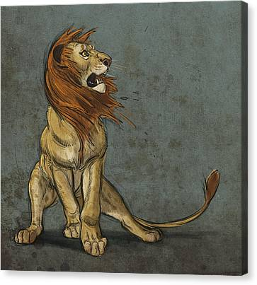 Lion Canvas Print - Threatened by Aaron Blaise