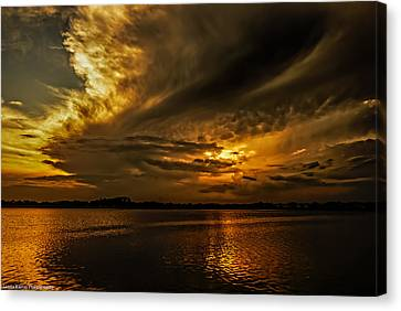Canvas Print featuring the photograph Threatening by Linda Karlin