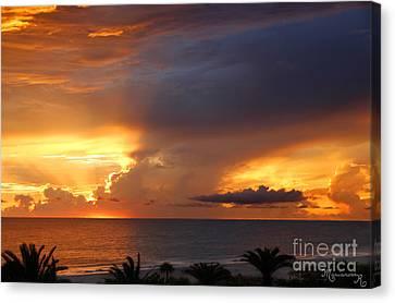 Threatening Sunset Canvas Print by Mariarosa Rockefeller