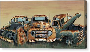 Three Amigos Canvas Print by John Wyckoff