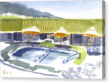 Three Amigos Poolside Canvas Print by Kip DeVore