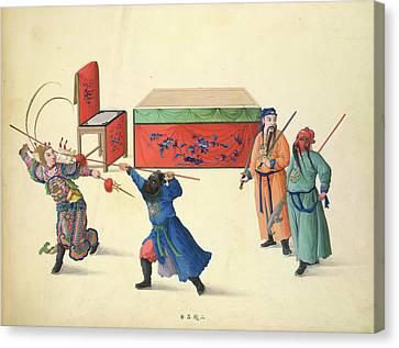 Three Battles Against Lu Pu Canvas Print by British Library