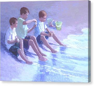 Three Beach Boys Canvas Print by J Reifsnyder