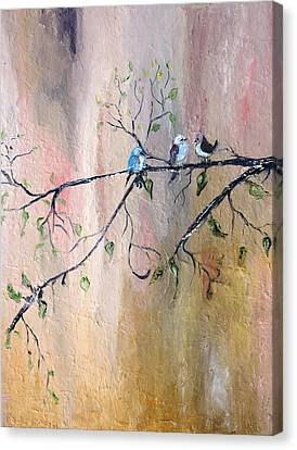 Three Birds Canvas Print by Evelina Popilian