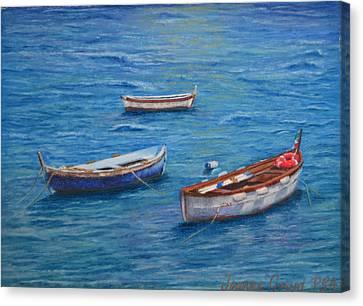 Three Boats Canvas Print