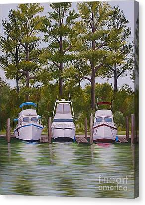 Three Boats Canvas Print
