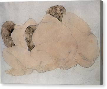 Three Boulders  Canvas Print by Auguste Rodin