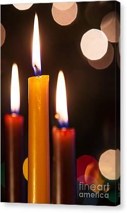 Three Candles Canvas Print