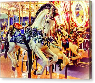 Three Carousel Ponies Canvas Print