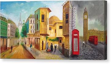 Three Cities Canvas Print by Rami Besancon