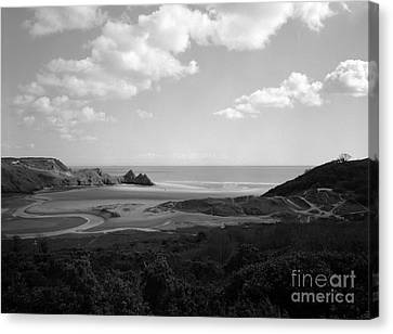 Three Cliffs Bay Canvas Print by Paul Cowan