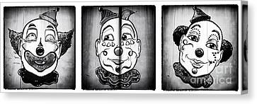 Three Clowns II Canvas Print by John Rizzuto