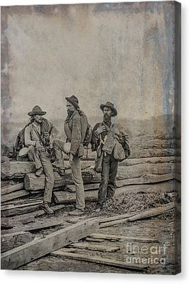 Three Confederate Prisoners Gettysburg Canvas Print by Randy Steele