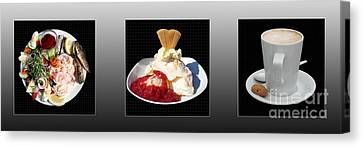 Canvas Print featuring the photograph Three Course Meal by Terri Waters
