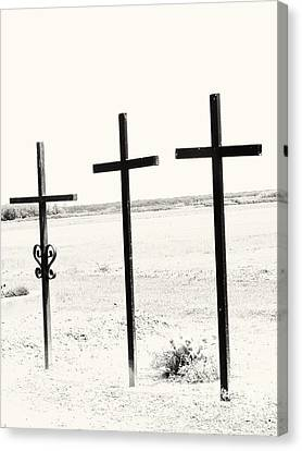 Three Crosses Canvas Print by Dan Radi