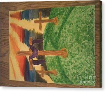 Three Crosses  Canvas Print by Kae Mangan