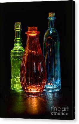 Three Decorative Bottles Canvas Print by ELDavis Photography