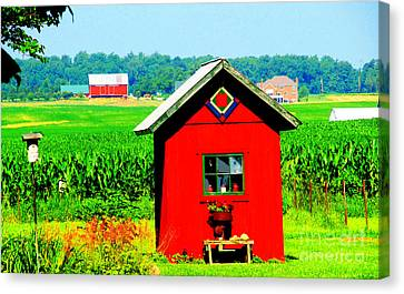 Three Delightful  Buildings Canvas Print by Tina M Wenger