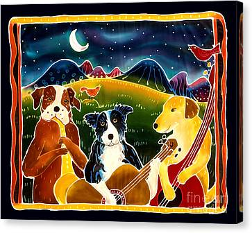 Mutt Canvas Print - Three Dog Night by Harriet Peck Taylor