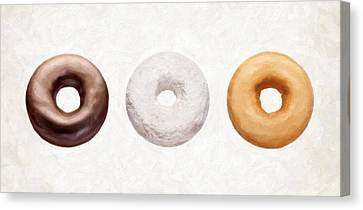 Three Donuts  Canvas Print