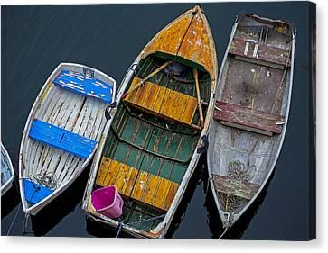 Three Empty Boats  Canvas Print by Garry Gay