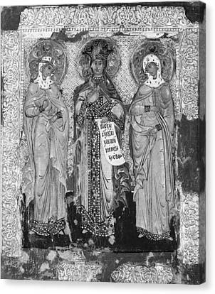 Russian Icon Canvas Print - Three Female Saints by Russian Painter