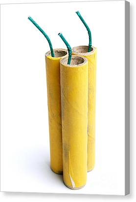 Three Firecrackers Canvas Print by Sinisa Botas