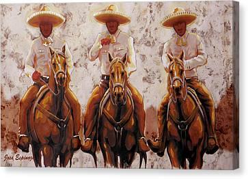 Folkloric Canvas Print - Three Friends by J- J- Espinoza