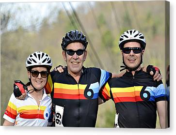 Three Gran Fondo Riders Canvas Print by Susan Leggett