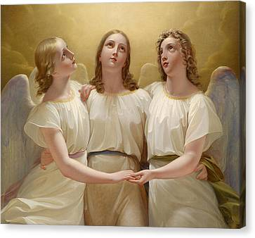 Three Guardian Angel Canvas Print by Franz Kadlik