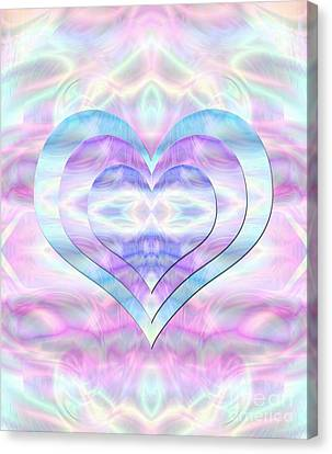 Three Hearts As One Canvas Print