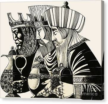Three Kings Canvas Print - Three Kings by Richard Hook
