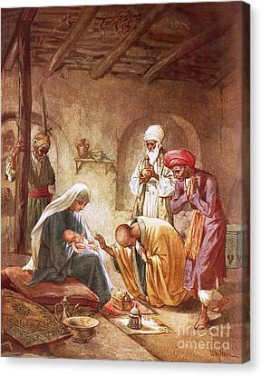 Three Kings Canvas Print - Three Kings Worship Christ by William Brassey Hole