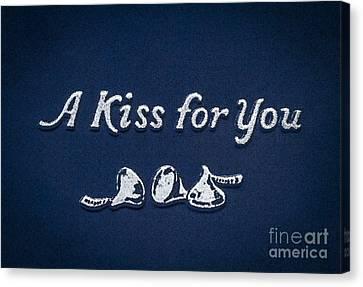 Three Kisses Canvas Print