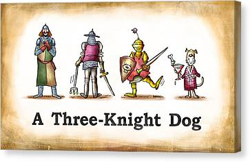Three Knight Dog Canvas Print by Mark Armstrong
