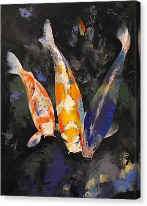 Three Koi Fish Canvas Print