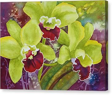 Three Ladies Canvas Print by Nancy Jolley
