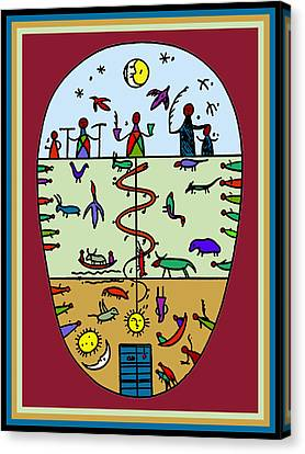 Canvas Print featuring the digital art Three Layers Of Life by Vagabond Folk Art - Virginia Vivier
