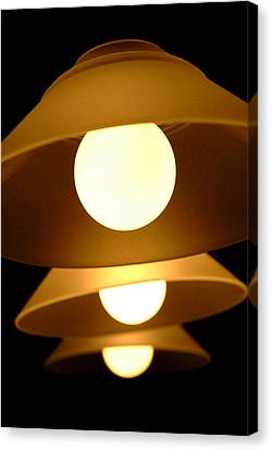 Canvas Print featuring the photograph Three Lights by Lena Wilhite