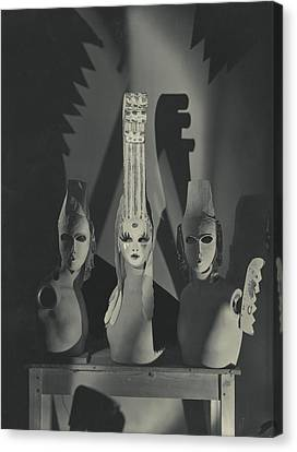 Three Masks Designed By Oliver Messel Canvas Print