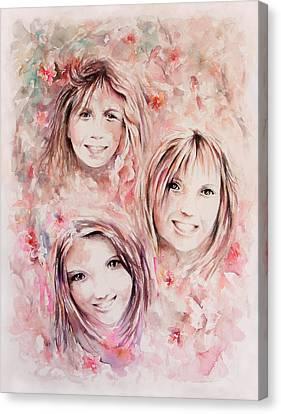 Three Miracles Canvas Print by Rachel Christine Nowicki