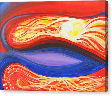 Three Mountains Under One Sun Panel Number One Canvas Print by David Keenan