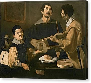 Three Musicians, 1618 Oil On Canvas Canvas Print by Diego Rodriguez de Silva y Velazquez
