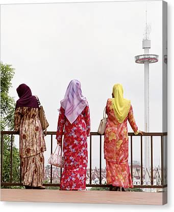 Three Muslim Women Canvas Print