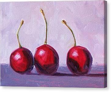 Three Canvas Print by Nancy Merkle